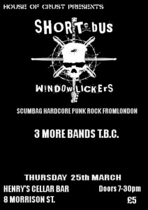 House of Crust presents Short Bus Window Lickers