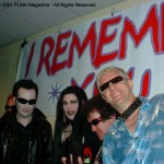 Jana Peri with The Damned @ The Joey Ramone Birthday Party RIP
