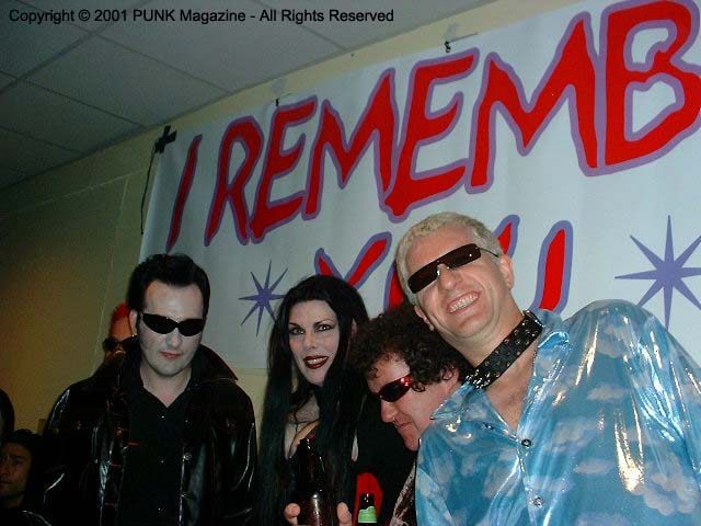 Jana Peri with The Damned @ The Joey Ramone Birthday Party RIP <3