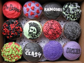 punk rock cup cakes 