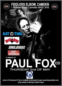 Paul Fox Tribute Thursday 2 May 2013 
