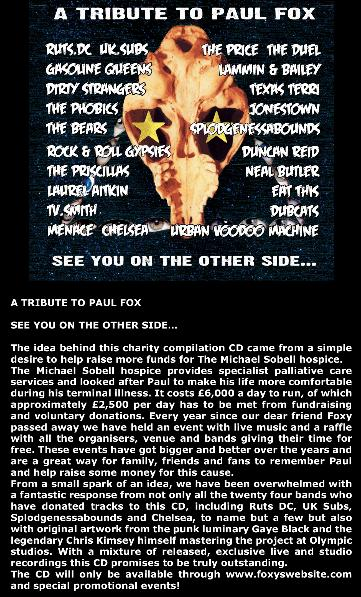 Paul Fox Tribute CD
