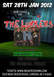 THE LURKERS + MONKISH + THE PHOBICS + CHEMICAL THREAT